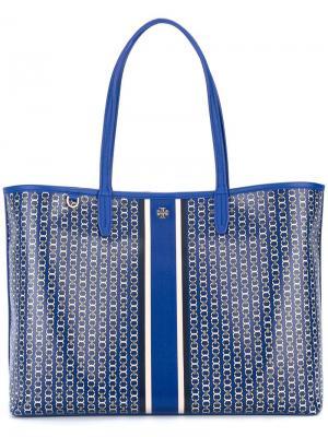 Большая сумка-тоут с принтом Tory Burch. Цвет: синий