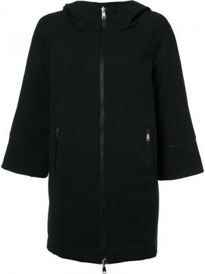 Двухстороннее пальто с капюшоном Brunello Cucinelli. Цвет: чёрный
