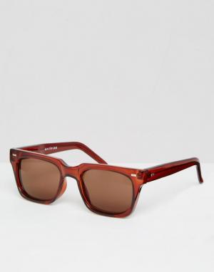 Spitfire Солнцезащитные очки в квадратной оправе. Цвет: коричневый