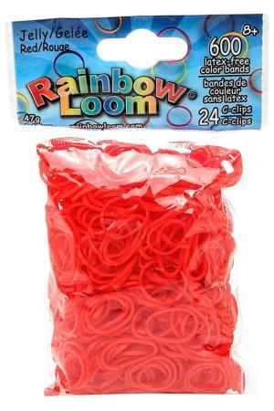 Резинки гелевые RAINBOW LOOM. Цвет: красный