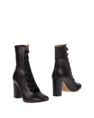 Полусапоги и высокие ботинки BIANCA DI. Цвет: темно-коричневый