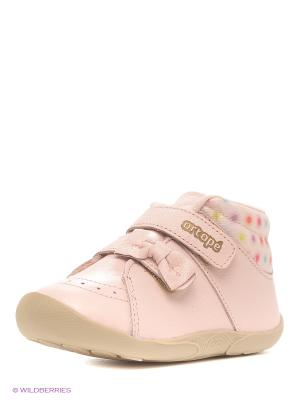 Ботинки Ortope. Цвет: бледно-розовый