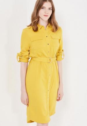 Платье Zarina. Цвет: желтый
