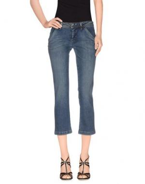Джинсовые брюки-капри PARASUCO CULT. Цвет: синий