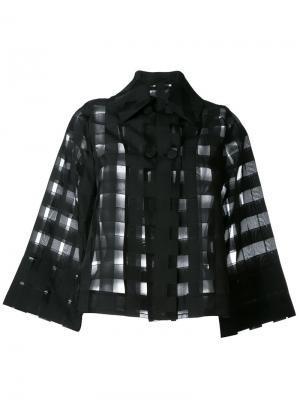 Прозрачная рубашка в клетку Ultràchic. Цвет: чёрный
