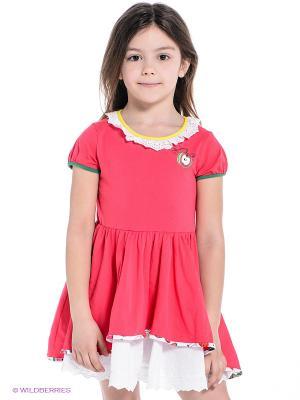 Платье ШАЛУНЫ. Цвет: розовый