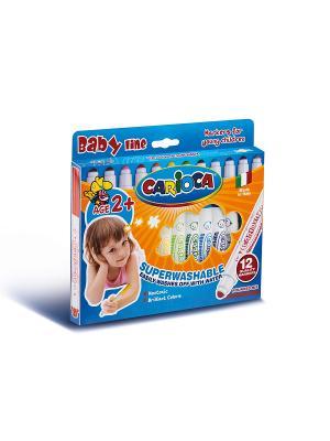 Набор фломастеров суперсмываемых для детей от 2 лет, 12 цв Universal. Цвет: синий