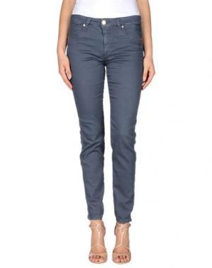 Джинсовые брюки BLUE LUXURY. Цвет: свинцово-серый