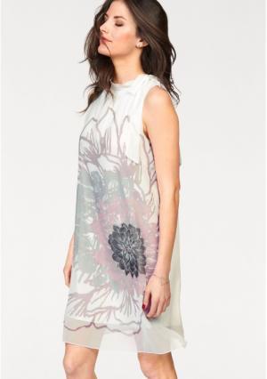 Платье VIVANCE. Цвет: белый/ягодный/серо-зеленый/розовый/графитный