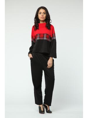 Костюм: брюки, джемпер KATA BINSKA. Цвет: черный, красный