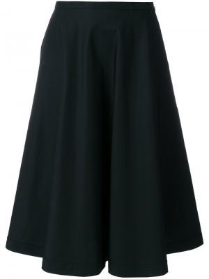 Поплиновая расклешенная юбка Aspesi. Цвет: чёрный