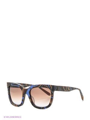 Солнцезащитные очки MI 814S 03 Missoni. Цвет: коричневый, сиреневый