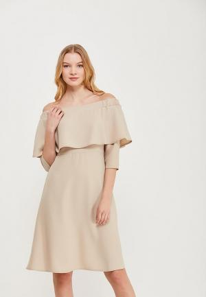 Платье Massimiliano Bini. Цвет: бежевый