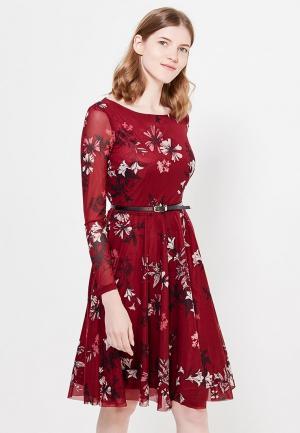 Платье Zarina. Цвет: бордовый