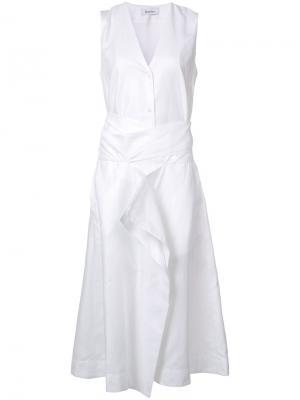 Платье с V-образным вырезом Rodebjer. Цвет: белый