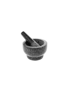 Ступка мраморная Elff Ceramics. Цвет: темно-серый