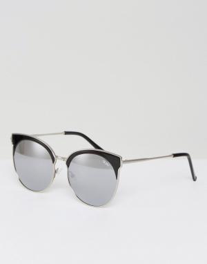 Quay Australia Черные солнцезащитные очки в стиле ретро Mia. Цвет: черный