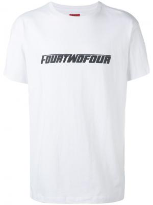Футболка с логотипом 424 Fairfax. Цвет: белый