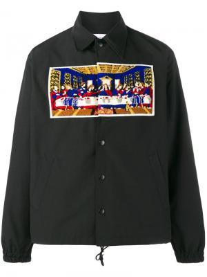 Куртка-рубашка Last Supper Facetasm. Цвет: чёрный