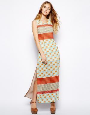 Платье макси  Eamer Jovonnista. Цвет: принт