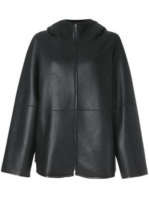 Свободное пальто The Row. Цвет: чёрный