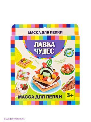 Набор массы для лепки Вафли Лавка Чудес. Цвет: желтый, зеленый, красный, синий