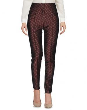 Повседневные брюки PRIVE' ITALIA. Цвет: баклажанный