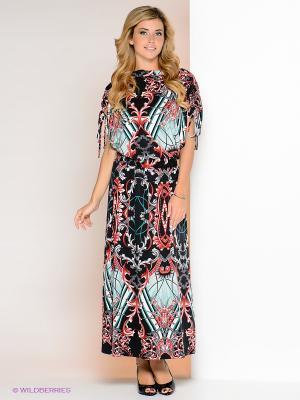 Платье МадаМ Т. Цвет: черный, бирюзовый, красный