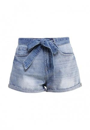 Шорты джинсовые LOST INK. Цвет: голубой