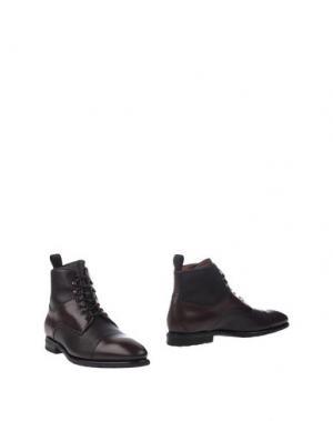 Полусапоги и высокие ботинки FRANCESCHETTI. Цвет: темно-коричневый