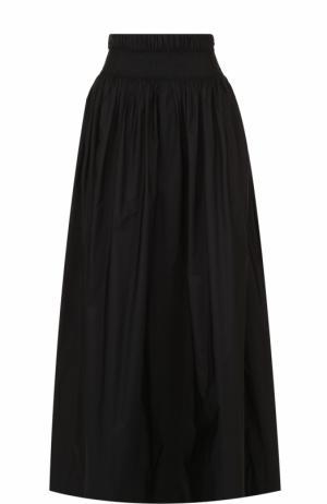 Юбка с завышенной талией и эластичным поясом Dries Van Noten. Цвет: черный