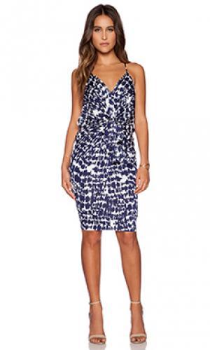 Мини-платье с узлом спереди T-Bags LosAngeles. Цвет: синий