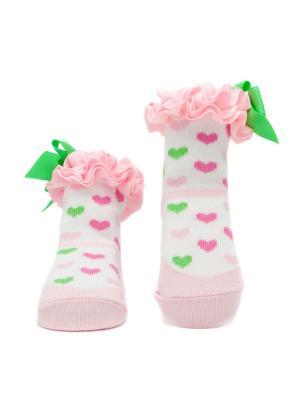 Носочки Сердечки Pretty Fashion Baby. Цвет: розовый