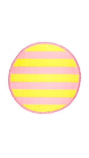 Большое полотенце Beverly в полоску ban.do. Цвет: бледно-желтый/камея