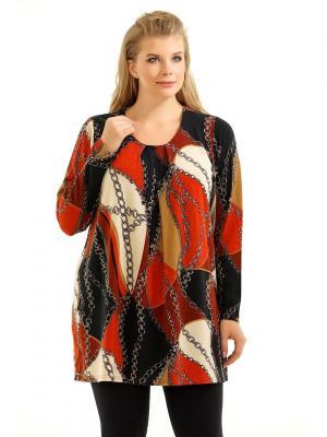 Туника Pretty Woman. Цвет: черный, коричневый, оранжевый