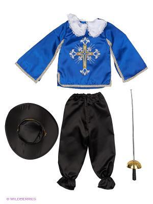 Карнавальный костюм Мушкетер Батик. Цвет: синий