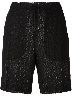 Кружевные шорты Giamba. Цвет: чёрный