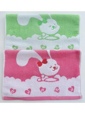 Набор полотенец A and C Collection. Цвет: зеленый, розовый