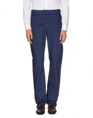 Повседневные брюки WOOD. Цвет: грифельно-синий