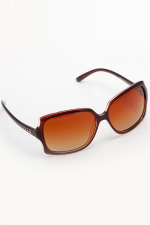 Очки солнцезащитные Asavi Jewel. Цвет: коричневый