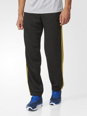 Трикотажные брюки муж. ESS 3S PANT CH  BKVIME/EQTYEL Adidas. Цвет: темно-серый, желтый