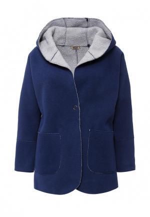 Пальто Besh. Цвет: синий