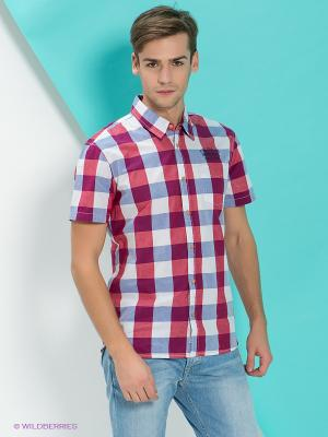 Рубашка PEPE JEANS LONDON. Цвет: красный, белый, голубой
