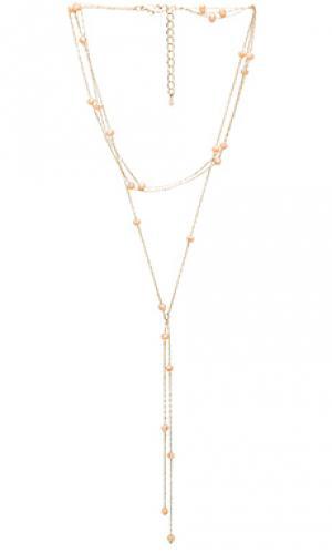 Ожерелье в форме лассо demi 8 Other Reasons. Цвет: металлический золотой
