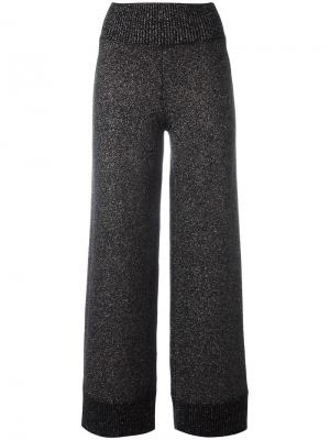 Широкие брюки Sparkle Bella Freud. Цвет: чёрный
