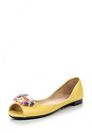 Балетки Inario. Цвет: желтый