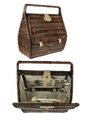 Набор для пикника на 2 персоны Русские подарки. Цвет: коричневый, бежевый