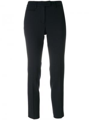 Укороченные брюки Incotex. Цвет: чёрный