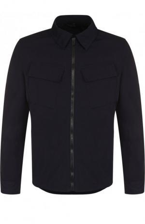Куртка на молнии с отложным воротником Belstaff. Цвет: темно-синий