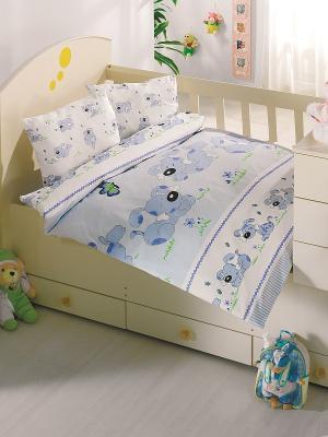 Комплект постельного белья Altinbasak. Цвет: голубой, белый